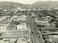 1928 Looking north up Highland Ave. from Santa Monica Blvd.
