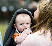 08/07/2018  repro  free: In the Rain ...5 month old  Odhran Gannon from Tuam son of Sgt Major Seamus Gannon at The National Day of Commemoration Ceremony at NUI Galway in honour of all those Irishmen and Irish Women who served in past wars or on Service with the UN.Photo:Andrew Downes, XPOSURE