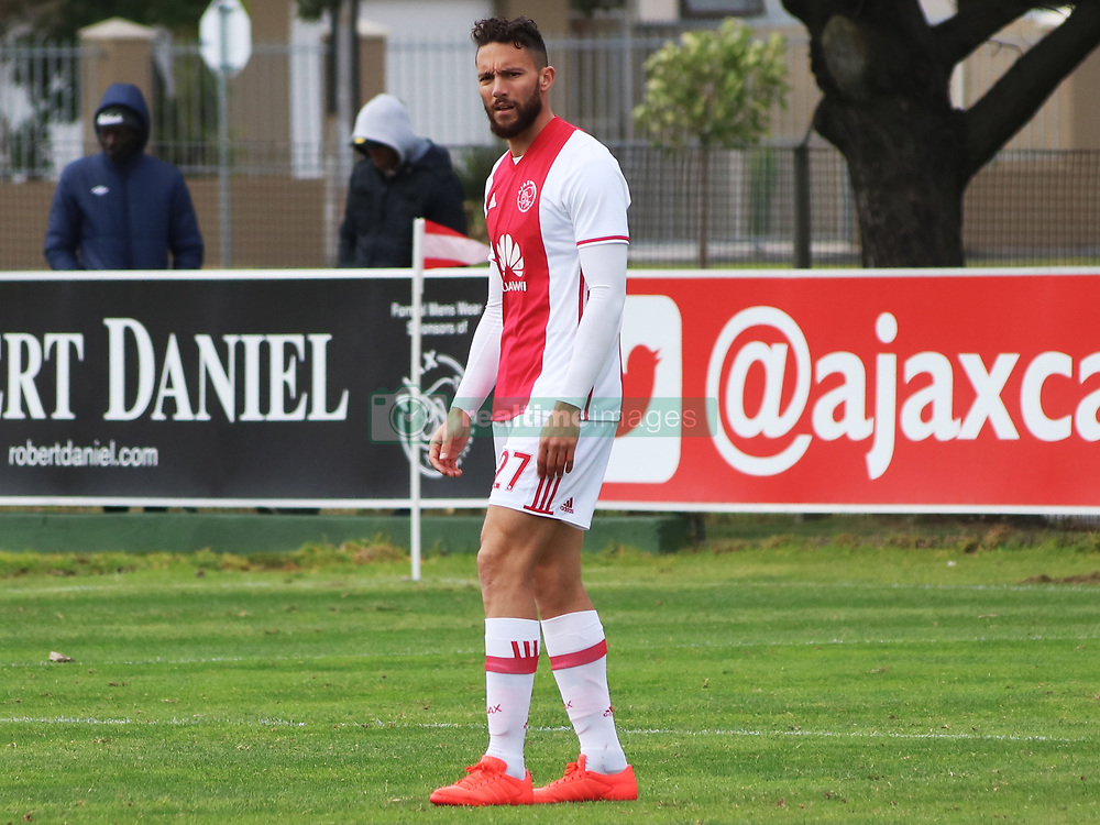 Ajax Cape Town defender Roscoe Pietersen in a friendly game v NFD club Cape Town All Stars at Ikamva on August 10, 2017 in Cape Town, South Africa.