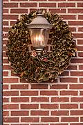 Christmas magnolia wreath Savannah, GA.