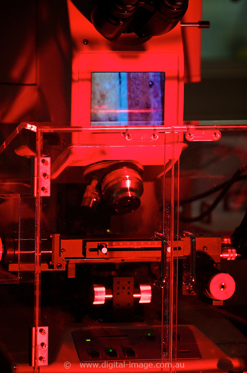 Australian Synchrotron, close up equipment on display at Open Day 2008.