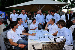 The French teams relax at the opening ceremony drinks reception. Photo: Chris Davies/WMRT