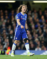 Chelsea's David Luiz with a knee brace during the Premier League match at the Stamford Bridge Stadium, London. Picture date: April 5th, 2017. Pic credit should read: David Klein/Sportimage