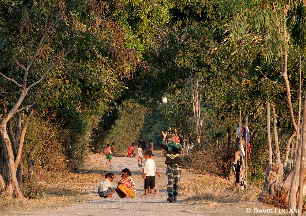 Children playing in the evening time.