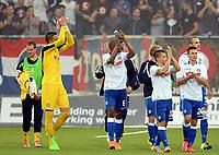 Fotball <br /> UEFA Europa League <br /> Third Qualification Round<br /> Strømsgodset v HNK Hajduk Split<br /> 06.08.2015<br /> Foto: Morten Olsen/Digitalsport<br /> <br /> HNK celebrating at full time<br /> 91 Lovre Kalinic<br /> 6 Jefferson<br /> 24 Marko Pejic