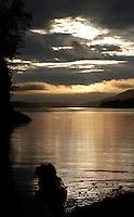 Sunset in Skardalsvågen, Radsundet - solnedgang