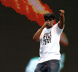 """The Mitchell Brothers perform live at the O2 Wireless Festival, Hyde Park, London, Great Britain <br /> 25th June 2005 <br /> <br /> Photograph by Elliott Franks <br /> <br /> <br /> The Mitchell Brothers were a Ghanaian British rap duo from London, England. They consisted of cousins Owura """"Tony"""" Nyanin from Manor Park and Kofi """"Teddy"""" Hanson from Stockwell."""