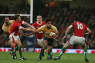 Digby Ioane of Australia. Invesco Perpetual series, Wales v Australia at the Millennium Stadium on Saturday 28th Nov 2009.  pic by Andrew Orchard, Andrew Orchard sports photography, .EDITORIAL USE ONLY