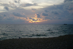 "© Licensed to London News Pictures. 01/06/2008. Phu Quoc Island, FILE PHOTO : A picture shows the sun setting over the sea near a beach on Phu Quoc Island in Vietnam on 1 June 2008. A naval officer has today (08.03.2014) been quoted saying ""We have asked boats from Phu Quoc island to be prepared for rescue"" after Malaysian airlines flight MH370 went missing with 227 passengers on board. . Photo credit : /LNP"
