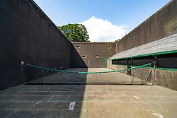 Exterior of Royal Tennis court at Falkland Palace in Falkland, Fife, Scotland, UK