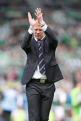 Falkirk manager Gary Holt at the end..Hibernian 4 v 3 Falkirk, William Hill Scottish Cup Semi Final, Hampden Park..©Michael Schofield..
