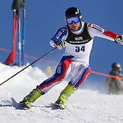 Alexander Khoroshilov, Russia, in action during the Men's Giant Slalom competition at Coronet Peak, New Zealand during the Winter Games. Queenstown, New Zealand, 22nd August 2011. Photo Tim Clayton