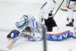 18.01.2013, Hala Tivoli, Ljubljana, SLO, EBEL, HDD Olimpija Ljubljana vs EHC Liwest Linz, 43. Runde, im Bild Lorenz Hirn (EHC Liwest Linz, #33) // during the Erste Bank Icehockey League 43rd Round match between HDD Olimpija Ljubljana and EHC Liwest Linz at the Hala Tivoli, Ljubljana, Slovenia on 2013/01/18. EXPA Pictures © 2013, PhotoCredit: EXPA/ Sportida/ Matic Klansek Velej..***** ATTENTION - OUT OF SLO *****