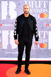 Marvin Humes attending the Brit Awards 2019 at the O2 Arena, London.