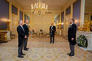 DEN HAAG - Koning Willem-Alexander heeft op Paleis Noordeinde achtereenvolgens de volgende Hoge Raad leden beedigd: prof. mr. B.F. Assink (rechts) en de Heer  F.J.P. Lock (links) Foto: WESLEY DE WIT