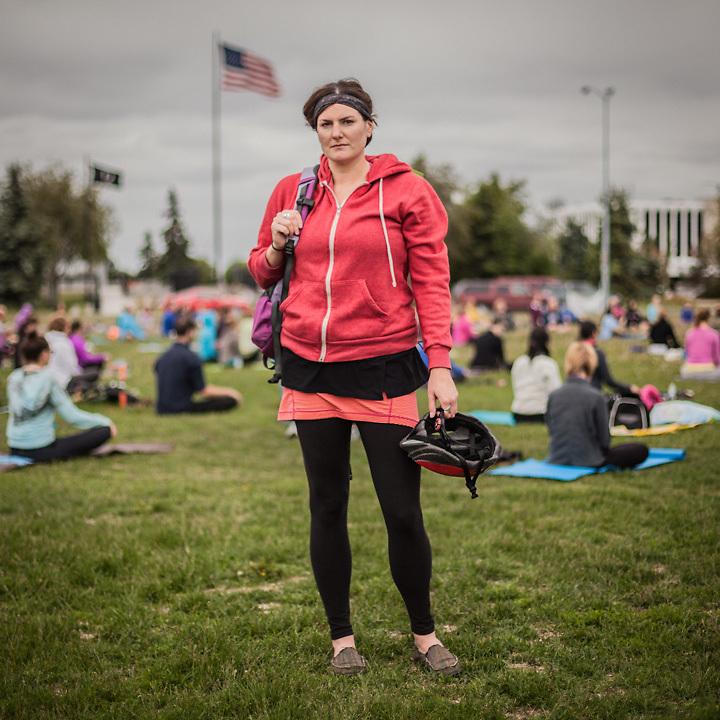 "Environmental Scientist Kyla C. at ""Yoga on the Park"" on Delaney Park Strip, Anchorage  akkylajoe@gmail.com"