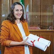 Remise du prix femmes et médias<br /> Salle du grand conseil<br /> Gagnante du Prix femmes et médias 2020<br /> Pascaline Sordet<br /> <br /> Neuchâtel, le 16 septembre 2020<br /> Photo: David Marchon