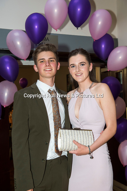 21 July 2017: Tollbar Academy MAT Sixth Form College Prom.<br /> Reece Newby and Megan Arnold<br /> Picture: Sean Spencer/Hull News & Pictures Ltd<br /> 01482 210267/07976 433960<br /> www.hullnews.co.uk         sean@hullnews.co.uk