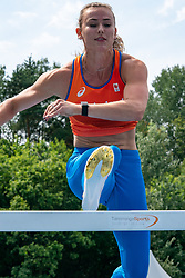 Nadine Visser in action during the Press presentation of the olympic team Athletics on July 8, 2021 in Papendal Arnhem