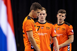 11-04-2019 NED: Netherlands - Slovenia, Almere<br /> Third match 2020 men European Championship Qualifiers in Topsportcentrum in Almere. Slovenia win 26-27 / Alec Smit #27 of Netherlands, Ephrahim Jerry  #25 of Netherlands