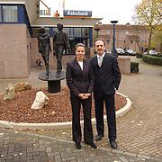 Margo van der Knaap en Kees Pastoor Rabobank Huizen voor een flyer