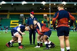 England U20 warm up - Rogan/JMP - 21/02/2020 - Franklin's Gardens - Northampton, England - England U20 v Ireland U20 - Under 20 Six Nations.