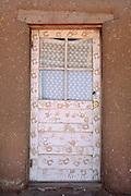 Painted door, Taos Pueblo, New Mexico