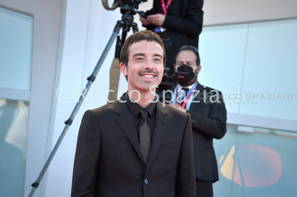 """VENICE, ITALY - SEPTEMBER 02 Diodato arrives for the opening ceremony and the screening of the film """"Lacci"""" on the opening day of the 77th Venice Film Festival, on September 2, 2020 at Venice ,Italy  (Photo by Rocco Spaziani)"""