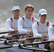 Amsterdam, HOLLAND,  GER W4X, Bow Britta OPPELT, Kathrin BORON, Christianr HUTH and Stephanie SCHILLER,  during their semi final, at the 2007 FISA World Cup Rd 2 at the Bosbaan Regatta Rowing Course. 23.06.2007[Mandatory Credit: Peter Spurrier/Intersport-images]..... , Rowing Course: Bosbaan Rowing Course, Amsterdam, NETHERLANDS