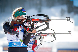Hauser Lisa Theresa of Austria competes during the IBU World Championships Biathlon 12,5 km Mass start Women competition on February 21, 2021 in Pokljuka, Slovenia. Photo by Vid Ponikvar / Sportida