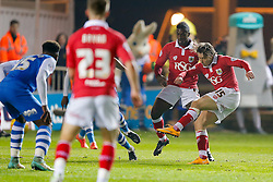 Luke Freeman of Bristol City scores a goal to make it 0-1 - Photo mandatory by-line: Rogan Thomson/JMP - 07966 386802 - 28/11/2014 - SPORT - FOOTBALL - Peterborough, England - ABAX Stadium - Peterborough United v Bristol City - Sky Bet League 1.