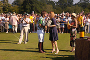 Veuve Clicquot Gold Cup Final at Cowdray Park. Midhurst. 17 July 2005. ONE TIME USE ONLY - DO NOT ARCHIVE  © Copyright Photograph by Dafydd Jones 66 Stockwell Park Rd. London SW9 0DA Tel 020 7733 0108 www.dafjones.com