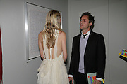 DAN PHILIPSON AND POPPY DELAVIGNE, Royal  Academy of  Arts summer exhibition opening night. Royal academy. Piccadilly. London. 6 June 2007.  -DO NOT ARCHIVE-© Copyright Photograph by Dafydd Jones. 248 Clapham Rd. London SW9 0PZ. Tel 0207 820 0771. www.dafjones.com.