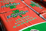 Pile of bags Evergreen Irish ericaceous compost