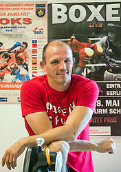 September 21, 2016 - Schwerin, Mecklenburg-Western Pomerania, Germany - Professional boxer Jurgen Brahmer stands at a press conference and practice on his next fight for the world champion title against Nathan Cleverly in Schwerin, Germany, 21 September 2016. The fight for the title is planned to be on 1 Octobre 2016 at the Neubrandenburgian Jahnsportform. Brahmer has won 48 out of 50 professional fights. PHOTO: JENS BÃœTTNER/dpa (Credit Image: © Jens BüTtner/DPA via ZUMA Press)