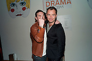 JUDE LAW, TODÕS Art Plus Drama Party 2011. Whitechapel GalleryÕs annual fundraising party in partnership. Whitechapel Gallery. London. 24 March 2011.  with TODÕS and supported by HarperÕs Bazaar-DO NOT ARCHIVE-© Copyright Photograph by Dafydd Jones. 248 Clapham Rd. London SW9 0PZ. Tel 0207 820 0771. www.dafjones.com.<br /> JUDE LAW, TOD'S Art Plus Drama Party 2011. Whitechapel Gallery's annual fundraising party in partnership. Whitechapel Gallery. London. 24 March 2011.  with TOD'S and supported by Harper's Bazaar-DO NOT ARCHIVE-© Copyright Photograph by Dafydd Jones. 248 Clapham Rd. London SW9 0PZ. Tel 0207 820 0771. www.dafjones.com.