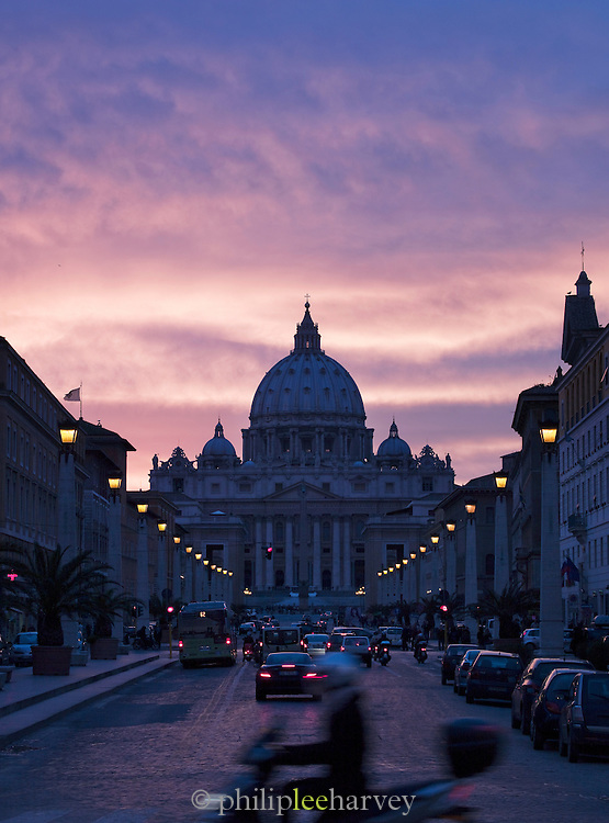 Saint Peter's Basilica and the Vatican City, Rome, Italy