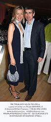 MR TIM & LADY HELEN TAYLOR at a party in London on 7th July 2004.PXA 13