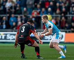 Aled Davies of Ospreys<br /> <br /> Photographer Simon King/Replay Images<br /> <br /> Guinness PRO14 Round 12 - Dragons v Ospreys - Sunday 30th December 2018 - Rodney Parade - Newport<br /> <br /> World Copyright © Replay Images . All rights reserved. info@replayimages.co.uk - http://replayimages.co.uk