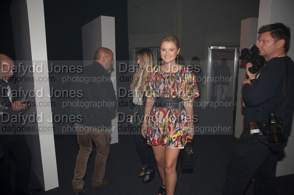 Amber Atherton, Celebration of 10 years with Kate Moss as the face of the make-up brand Rimmel.  Battersea Power Station. London. 15 September 2011<br /> <br /> <br />  , -DO NOT ARCHIVE-© Copyright Photograph by Dafydd Jones. 248 Clapham Rd. London SW9 0PZ. Tel 0207 820 0771. www.dafjones.com.