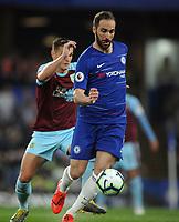 Football - 2018/ 2019 Premier League - Chelsea vs Burnley<br /> <br /> Gonzalo Higuain of Chelsea at Stamford Bridge<br /> <br /> Colorsport  / Andrew Cowie