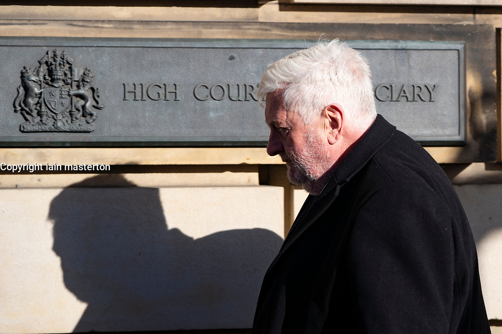 Edinburgh, Scotland, UK. 9 March, 2020.  Alex Salmond appears at High Court in Edinburgh on first day of his trial. He is accused of various sexual offences all of which he denies. Pictured; Gordon Jackson QC, defence lawyer for Alex Salmond arrives at the High Court. Iain Masterton/Alamy Live News