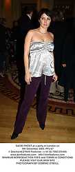 SADIE FROST at a party in London on 9th December 2003.PPJ 67