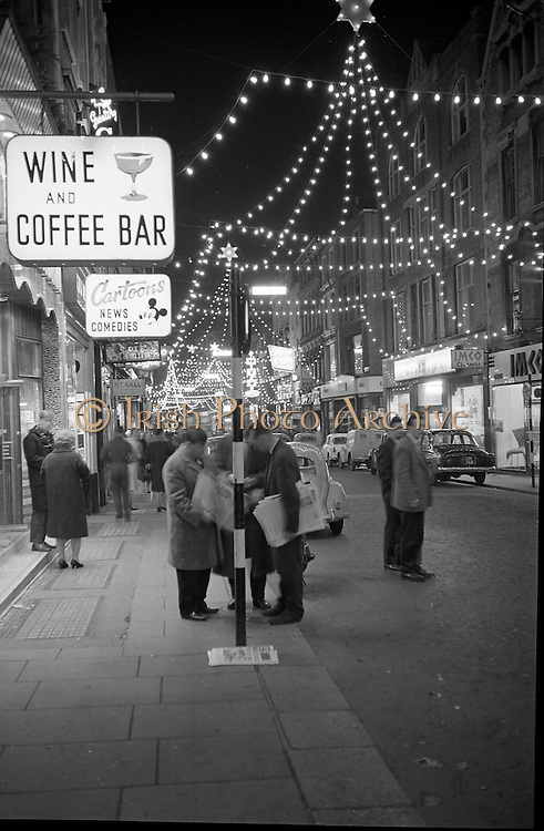 Christmas Decorations, Grafton Street, Dublin..09.12.1961