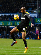 Jimmy Abdou (8) of AFC Wimbledon controls the ball during the EFL Sky Bet League 1 match between Portsmouth and AFC Wimbledon at Fratton Park, Portsmouth, England on 26 December 2017. Photo by Graham Hunt.