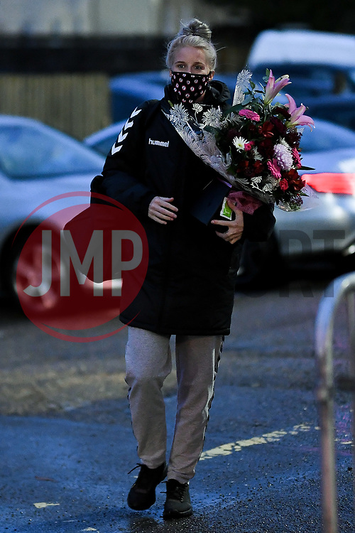 Jasmine Matthews of Bristol City Women arrives at Twerton Park prior to kick off - Mandatory by-line: Ryan Hiscott/JMP - 14/11/2020 - FOOTBALL - Twerton Park - Bath, England - Bristol City Women v Tottenham Hotspur Women - Barclays FA Women's Super League