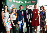 Colm Quinn BMW staff Niamh McEntee, Emma Quinn, Colm Quinn, Michael Moloney, Galway Race Course Manager, Tina McMabola and Sandra Ginnelly, Galway Races  at the launch of The Galway Races 2016 Summer Festival which runs from the 25th of July to the 31st of July in Galway City. Photo: Andrew Downes :