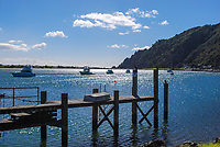 Whakatane, North Island, New Zealand, jetty, sea, leisure craft, boats, 201004154112 ..Copyright Image from Victor Patterson, 54 Dorchester Park, Belfast, UK, BT9 6RJ..Tel: +44 28 9066 1296.Mob: +44 7802 353836.Voicemail +44 20 8816 7153.Skype: victorpattersonbelfast.Email: victorpatterson@mac.com.Email: victorpatterson@ireland.com (back-up)..IMPORTANT: If you wish to use this image or any other of my images please go to www.victorpatterson.com and click on the Terms & Conditions. Then contact me by email or phone with the reference number(s) of the image(s) concerned.