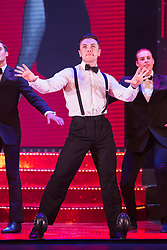 """© Licensed to London News Pictures. 17/06/2015. London, UK. Ray Quinn performing. UK premiere of """"Judy - The Songbook of Judy Garland"""" - a show celebrating the classic songs of Judy Garland - opens at the New Wimbledon Theatre, London before a UK tour. The show runs from 16 to 20 June 2015. Photo credit : Bettina Strenske/LNP"""
