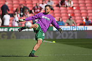 Bristol City goalkeeper Stefan Marinović (34) warming up before the EFL Sky Bet Championship match between Sheffield United and Bristol City at Bramall Lane, Sheffield, England on 30 March 2019.